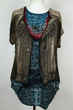 NEW  WOMEN  TUNIC BLOUSE size 20/22  TOP SHORT SLEEVE LADIES v 1240