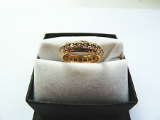 9ct Yellow Gold Womens Spinel Full Eternity Ring