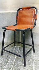 Vintage/Retro Leather Effect Saddle Side/Dining Chair