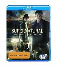 Supernatural Season 1 4 Disc Set Blu-Ray Region Free Jensen Ackles Jared Padalec
