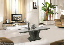 Marble Effect Coffee Table Brown with Cream in the Middle Table Top Stone Made