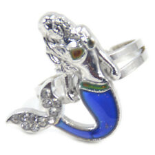 Mermaid Emotion Mood Rings Colour Changing Discoloring Jewellery Adjustable 1 Pc