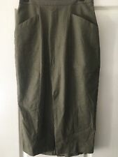 KHAKI Knee Length Skirt - size M