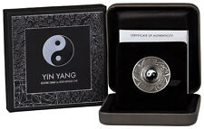 2016 Tuvalu $1 1 oz. Antiqued Proof Silver Yin Yang With Charm In OGP SKU44671