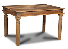 DINING ROOM FURNITURE JALI NATURAL SHEESHAM SMALL DINING TABLE (J40N)