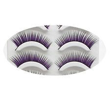 Soft Long Fancy Purple Colorful Feather Eyelashes False Eye Lash Party Cosmetic