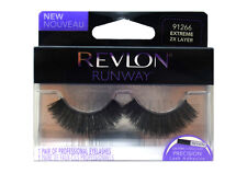 REVLON FALSE EYELASHES EYELASH EYE LASH LASHES EXTREME 2X LAYER 91266 LONG BLACK