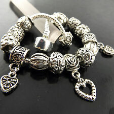 A518 GENUINE REAL 925 STERLING SILVER SF LADIES SNAKE CHARM CUFF BRACELET BANGLE