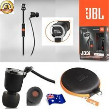 JBL J33i Premium In-Ear Headphones with Mic Remote for iPad iPod iPhone Black