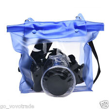 Waterproof Digital Camera DSLR Case Underwater Pouch Bag For Canon For Sony