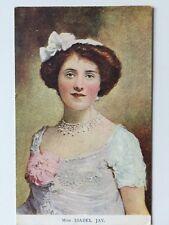 Vintage Postcard - Davidson Bros - Footlight Favourites #7041 Miss Isabel Jay