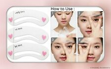 3 Eyebrow Shapes Stencils Shaper Grooming Kit Brow MakeUp Template Tool