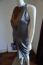 Alexander McQueen Silk Grey Dress Size 42/UK10