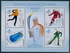 Rumänien 2006 Mi. Block 368 ** Winterspiele Turin,Fackel,Sport,Elisabeta Lipa