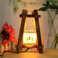 Bedside Lamp Vintage Wooden Lamp Desktop Table Lighting Romantic Artistic Gift