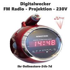 Digitaler Multi Wecker mit Radio Lautsprecher Uhrzeit Projektion Musik Uhr Neu