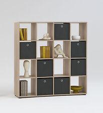 Raumteiler Mega 6, Eiche, Regal, Regalwürfel, Standregal, Bücherregal, 16 Fächer
