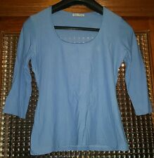WOMENS Sz M blue EQUIPMENT stretchy top LOVELY!