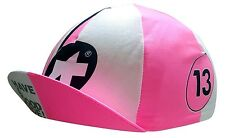 Cycling Cap Summer ASSOS Pink / White Made In Italy 100% Cotton