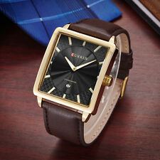 Curren Genuine Brown Leather Analog Date Display Mens Casual Quartz Watch
