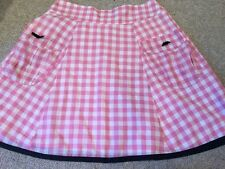 NEW WITHOUT TAGS DESIGNER REVIEW PINK GINGHAM FULL SKIRTED SKIRT ROCKABILLY