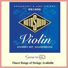 Rotosound  RS1000 Student 4/4 Violin Strings Set Silver Wound Made in England