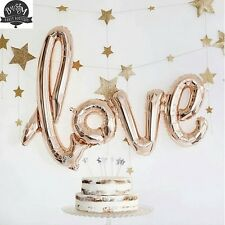 Love Script Balloon Rose Gold - Party, Birthday, Engagement - Free Postage!