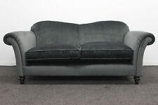 GB Ettiene Chenille Charcoal Fabric 2 Seater Sofa (SALE)