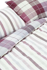 NEXT Bedding – Country Check & Stripe Bed Set, King size, Duvet Cover & 2 Pillow