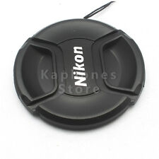 52mm Snap-on Lens Front Cap for Nikon Camera D3200 D3300 w Rope