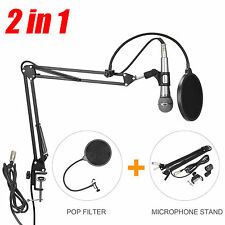 Microphone Mic Stand Broadcast Studio Desktop Suspension Boom Scissor Arm Holder