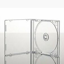 10 x Single CD Jewel Case Cases 10.4mm Spine Clear Tray HIGH QUALITY PLASTIC
