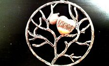 MOTHERS DAY MOM TREE OF LIFE Pearl Heart PENDANT w/ 925 Sterling Silver Necklace