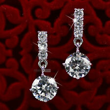 18k white gold gp made with SWAROVSKI crystal stud earrings dangle