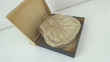 Handtasche ABENDTASCHE Stoff beige Perlen Strass Steine gold Vintage 50er 60er