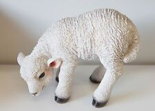Outdoor Garden Resin Animal Gift Ornament Standing Small White Lamb