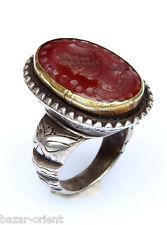 ring Size 57 orient Turkmen massiv silber Karneol Siegelring Afghan seal ring 19