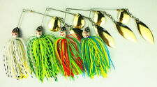 4 x 20g Spinner Baits Lures Double Blade Flasher Yellowbelly Cod Perch