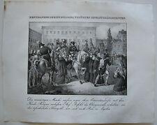 Napoleon Bologna punizione Italia Orig Lithographie 1832 Napoleonische Kriege