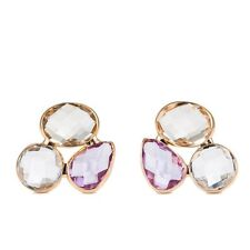 New Fashion Stylish Pink Austria Crystal Rose Gold Plated Stud Earring Jewellery