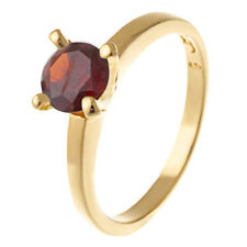 Fashion jewelry Womens gold Filled wedding Engagement Red Ruby Ring Size 8