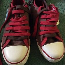 M&S BNWT  Smart double lace up  Funky  Running School Trainers size UK3 EU 35.5