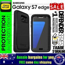 OtterBox Samsung Galaxy S7 Edge Defender Genuine Black Otter Case Trade Heavy