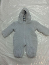 Pex Baby Knitted Snowsuit - 100% Cotton - 0-3mths - Blue Bear