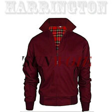 Mens Harrington Jacket Coat 1970's Vintage Bomber Mod Classic Wine Size S