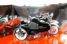 HARLEY DAVIDSON  DUO GLIDE  & SIDECAR  1/18th  DIECAST  MODEL MOTORCYCLE