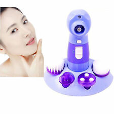 4in1 Electric Pore Face Cleaner Blackhead Absorbing Wash Brush Skin Instrument