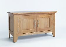 Sherwood Oak Two Door Cabinet / Light Oak TV Stand / Modern Oak TV Unit