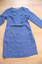 BODEN  blue  linen tunic dress  size 8R  great condition WH986