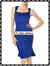 """MICHELLE"" BEAUTIFUL BLUE WIGGLE SIZE 14 DRESS COCKTAIL RACES EVENING WEDDING"